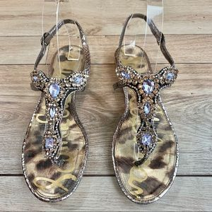 Sam Edelman | Jeweled Ross Sandals | Size 9